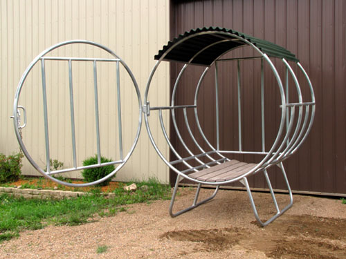 Round Bale Feeders Covered